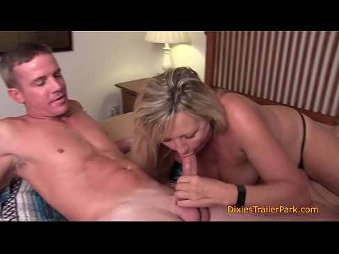 Wife giving husband a blowjob