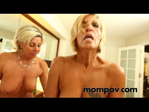 Two Milfs Sharing Cock Anal