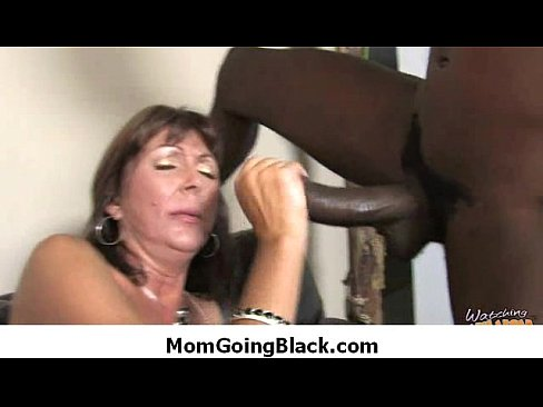 Ebony Milf Loves White Cock