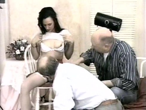 small woman spanked and watching them