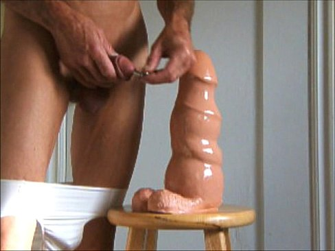Ass stretching dildo cock