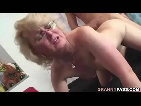 Mature takes huge cock
