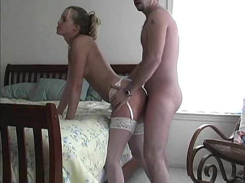Blonde tranny in boots fucks guy