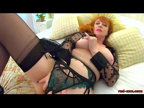 Mature British Redhead With Big Boobs Fingers Herself Then