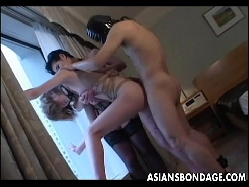 Amateur fucked by gimp