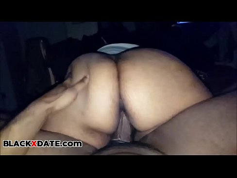 Big black booty riding dick