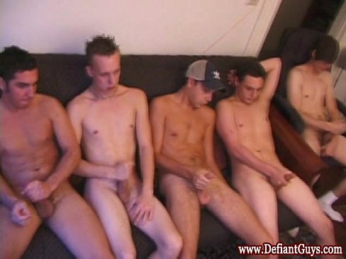 Straight Mature Bears Group Wank Off