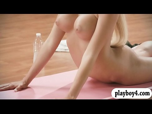 Sexy women doing yoga exercise while theyre all naked