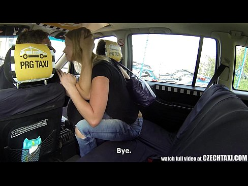 Czech fuck for cash in cabs