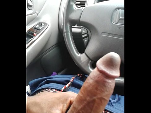 Jerking off in car