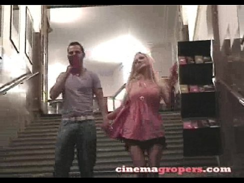 Blonde Groped in Cinema