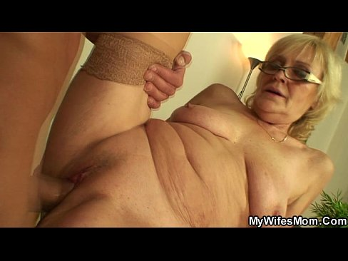 Old mom and son sex