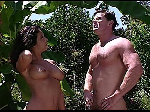 image Vintage nudist camp scene