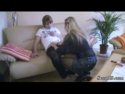 German Milf help Virgin StepSon to learn to Fuck a girl