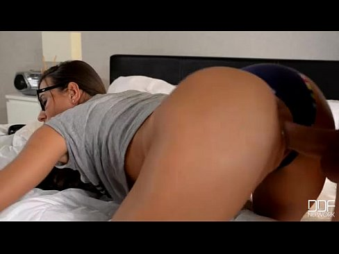 Girls with glasses love anal #13