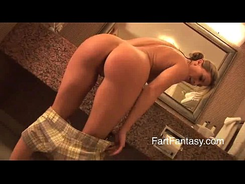 Blonde Ariel's Bare Farting Ass