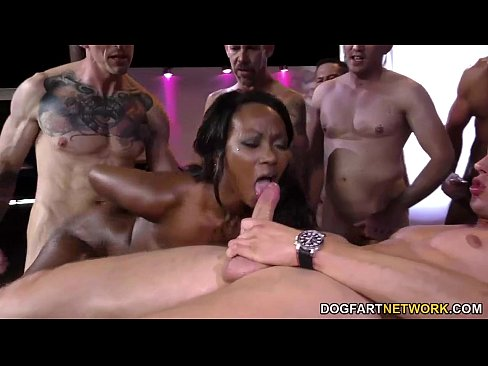 Ebony On Ebony Gangbang