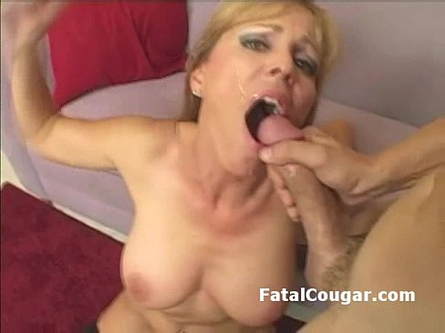 Hot Mature Blonde Cougar Pounded