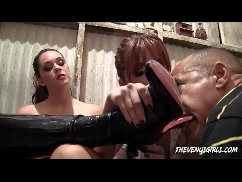 JESSI PALMER And ALLISON TYLER - BOOT & FEET SLAVE HUMILIATION ...