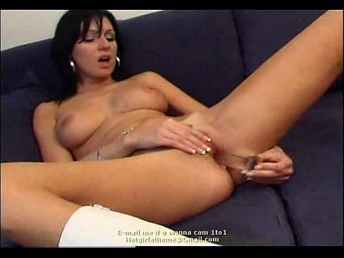 Glass Dildo in her ass anal