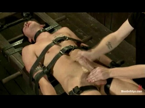Blindfolded Sub Edged While Restrained