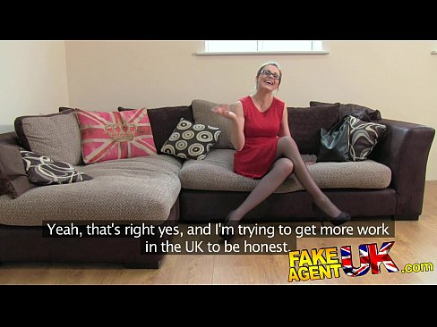 fakeagentuk creampie casting for a london girl with great