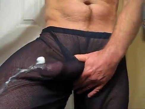 Big white cock jacking off
