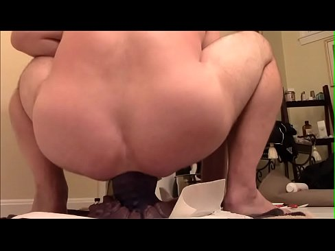 Extra large dildo in pussy