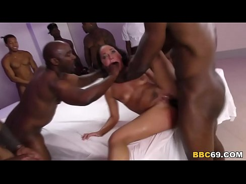 Interracial gangbang sluts