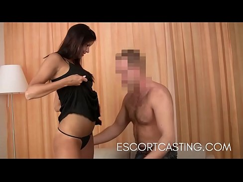 Tall Czech Escort In Black Dress Fucks Client