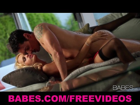 Fit blonde model makes passionate love to her man
