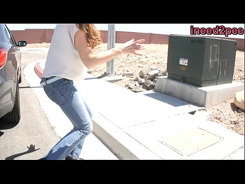 Peeing panty and jeans