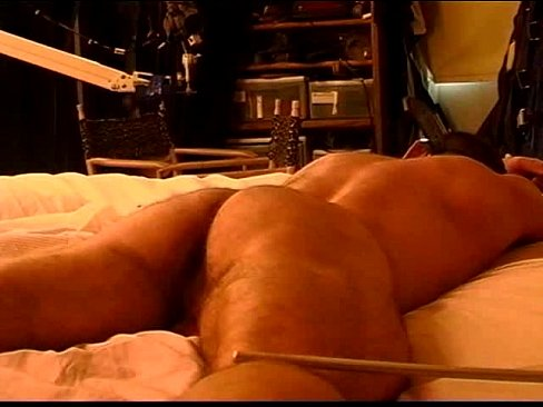 cbt and paddling of hot gagged restrained dude