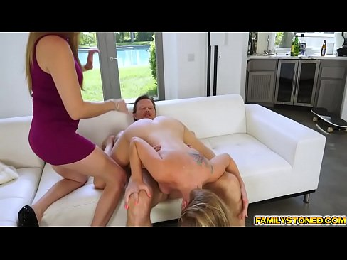 Clit licking spanked by daddy