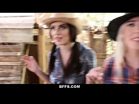 Hot country girls share a cock