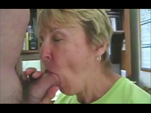 Grandma sucks her grandson's dick