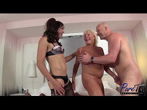 Horny Mature Couple Are Getting In A Threesome With A Shemale