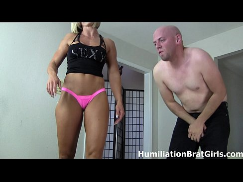 Hot mistress and her big tits slave enjoying their foot fetish