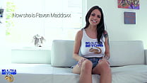 Teen Raven Maddoxx gets oiled up & creampied by...
