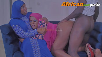2 wives of an Arab billionaire hungry for sex. Are fucked in turn by a dissatisfied kidnapper. Their husband does not want to pay the rancor requested. the kidnapper takes  the horny pussy of the 2 women