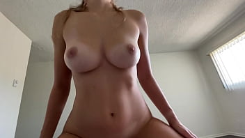 Curvy College Girl Orgasms On Top of Cock