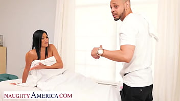 Naughty America - Mona Azar is in need of a nice cock massage!