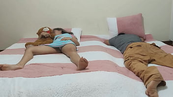 Perverted Brother Fucks His Little Step-Sister While His Dad Is Unloading